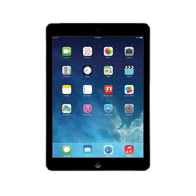 MD785LL/A-B Apple iPad Air MD785LL/B 16GB 9.7 Inch WiFi Smart Tablet (Certified Refurbished)