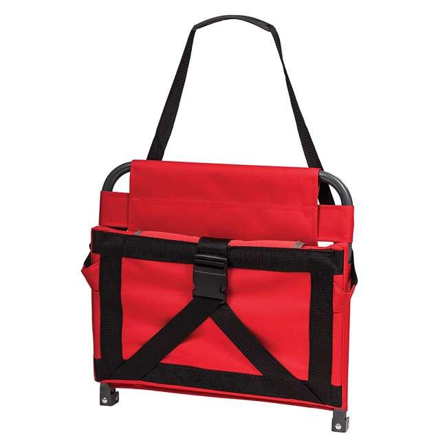1-1-58813-DS-U-A Eastpoint Sports Adjustable Bleacher Backrest Seat, Red (Open Box) (2 Pack) 1