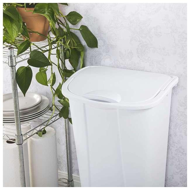 6 x 10938006 Sterilite 11 Gallon SwingTop White Wastebasket, 6 Pack (6 Pack) 2