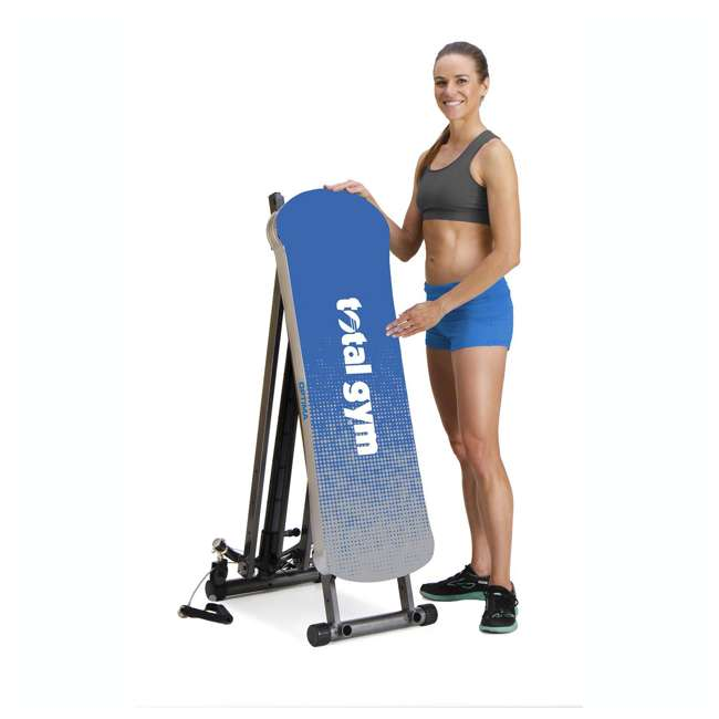 ROPTIMACAT Total Gym Full Body Workout Home Fitness Folding Exercise Row Machine (2 Pack) 3