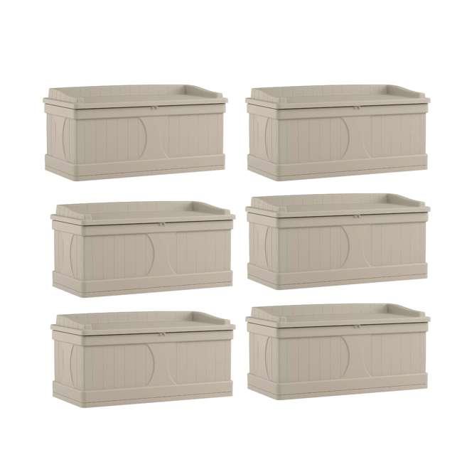 6 x DB9500 Suncast 99 Gallon Deck Box (6 Pack)