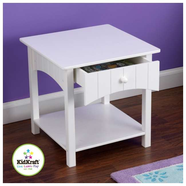 KDK-86624-U-C KidKraft Nantucket Toddler Wood Side Table - White | 86624 (For Parts) 1