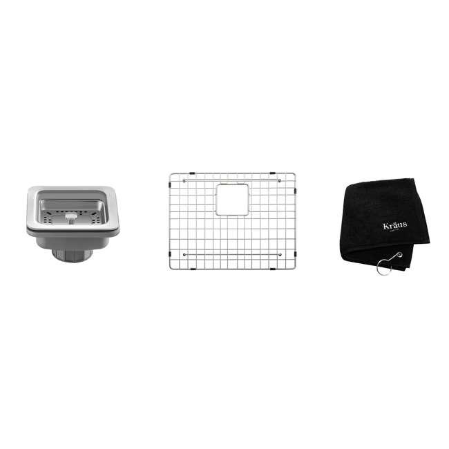 KHU23 Kraus Pax 22.5-Inch Rectangular Undermount Kitchen Sink (2 Pack) 5