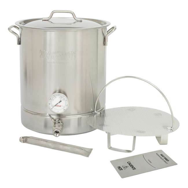 800-408 Bayou Classic 800-408 8 Gallon Stainless Steel 6 Piece At Home Brew Pot Kit