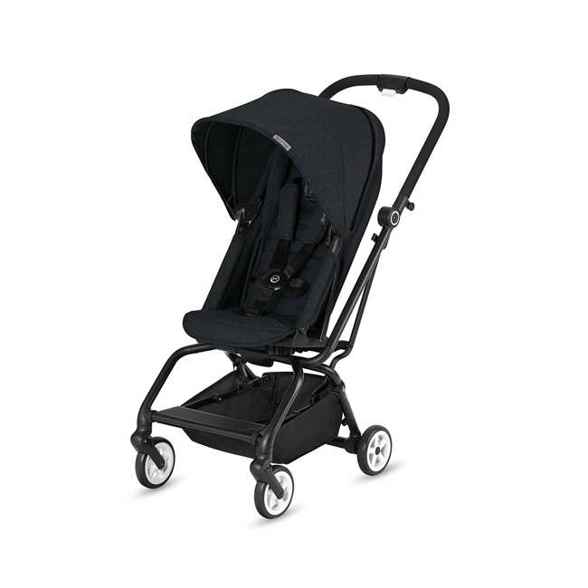 518001259  Cybex Eezy S Twist Travel System Baby and Toddler Stroller w/ Sun Canopy, Black