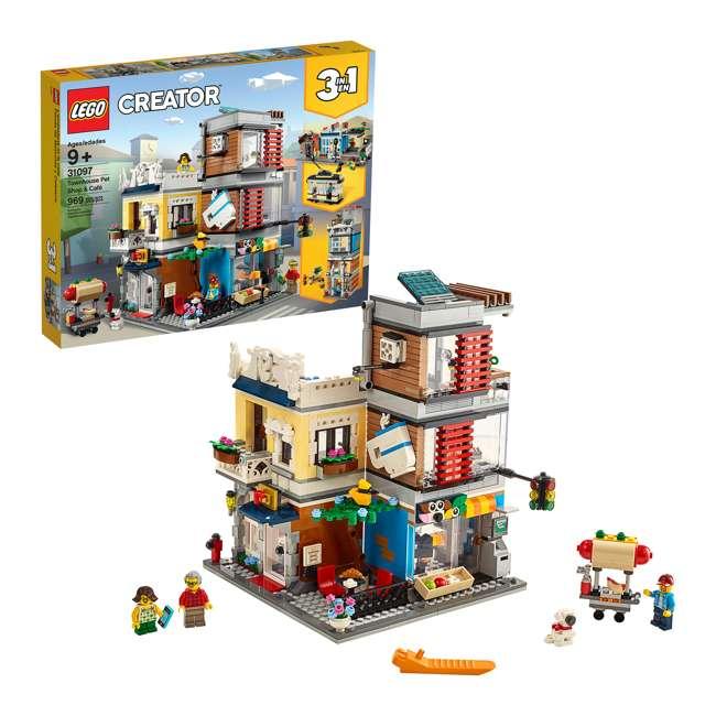 6250798 LEGO 31097 3-in-1 Townhouse Pet Shop & Cafe Block Building Kit w/3 Minifigures 5