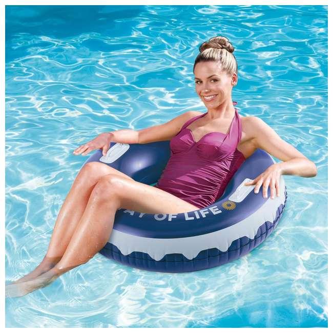 """P4A024521167 + 4 x K10423D00167 + KF0226B00167 Summer Waves 24' x 52"""" Pool Set + Corona Pool Floats (4 Pack) + Floating Cooler 7"""