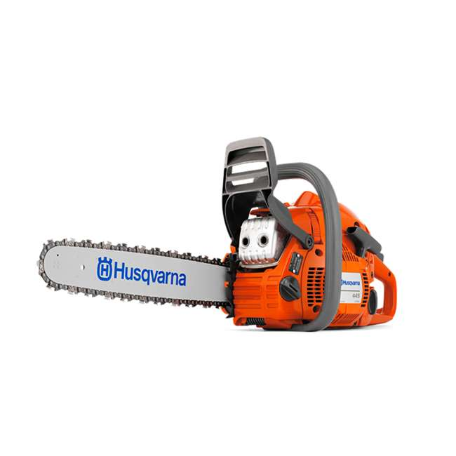 HV-CS-965030296 + HV-TOY-522771104 Husqvarna 445 Rancher 18-Inch Bar Chainsaw and 440 Toy Kids Chainsaw, Orange 1
