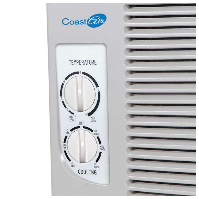 CMW051B Coast Air CMW051B 5000 BTUs Compact Window Mount Air Conditioner Unit, White 1