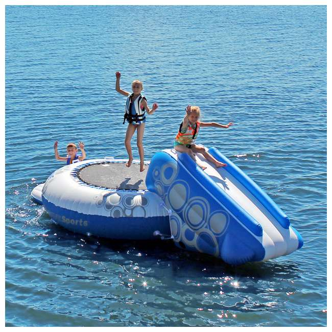 02438-RV Rave Sports O-Zone Plus Inflatable Water Trampoline with Slide 4