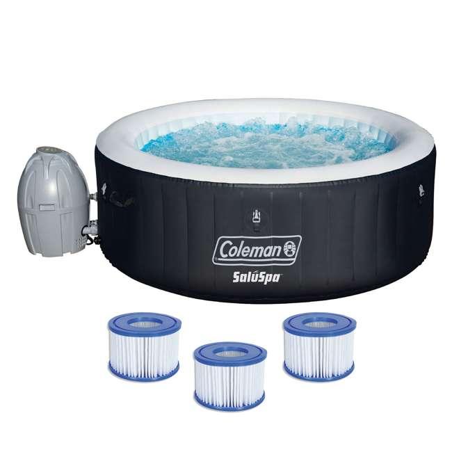 13804-BW + 3 x 90352E-BW Coleman SaluSpa Inflatable Hot Tub + 3 Filter Cartridges