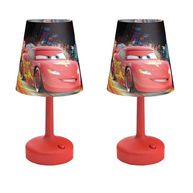 PLC-7179632U0 Philips Disney Cars Kids Table Lamp with Shade (2 Pack)