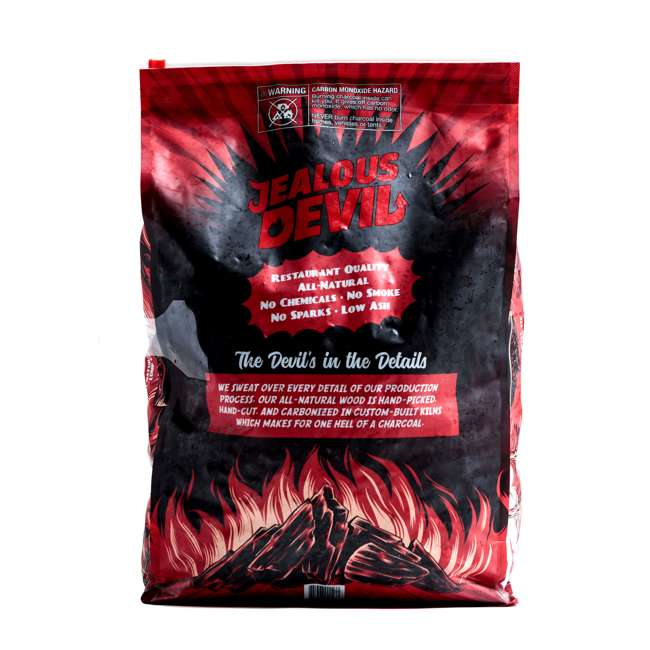 JD-20-LBS Jealous Devil 100 Percent Natural Hardwood Wood Lump Grill Charcoal, 20 Pounds (2 Pack) 3