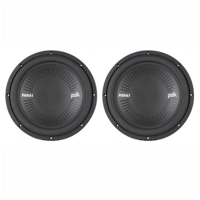 DB1242-SVC Polk Audio 12 Inch Single Coil Marine Subwoofer (2 Pack)