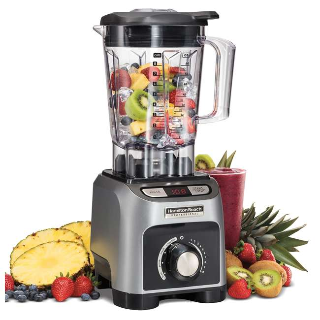 58850 + BABYFOODBLEND Hamilton Beach 4 Program 1800W 64 Oz Kitchen Blender & 175 Baby Food Recipe Book 1