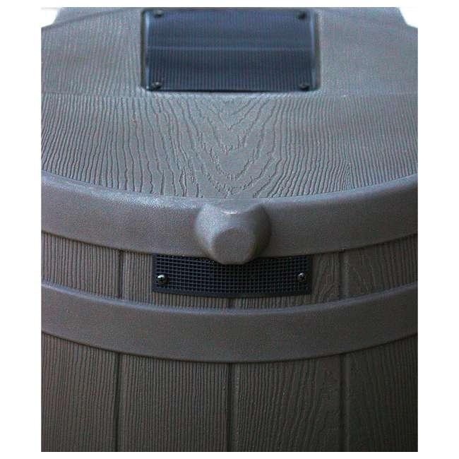 RW50-OAK-U-A Good Ideas 50 Gallon Rainwater Collection Barrel Drum, Oak (OpenBox) (2 Pack) 3