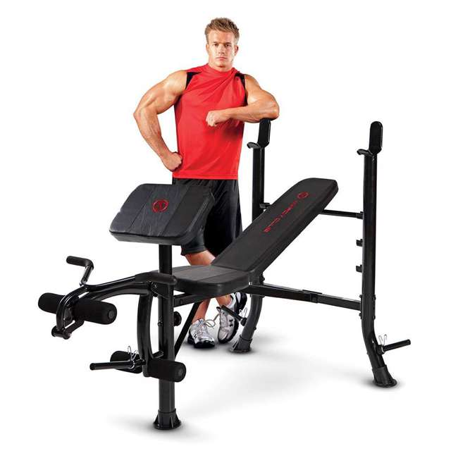 MKB-367RH-U-A Marcy Pro MKB-367RH Standard Weight Bench for Racks and Home Gyms(Open Box)