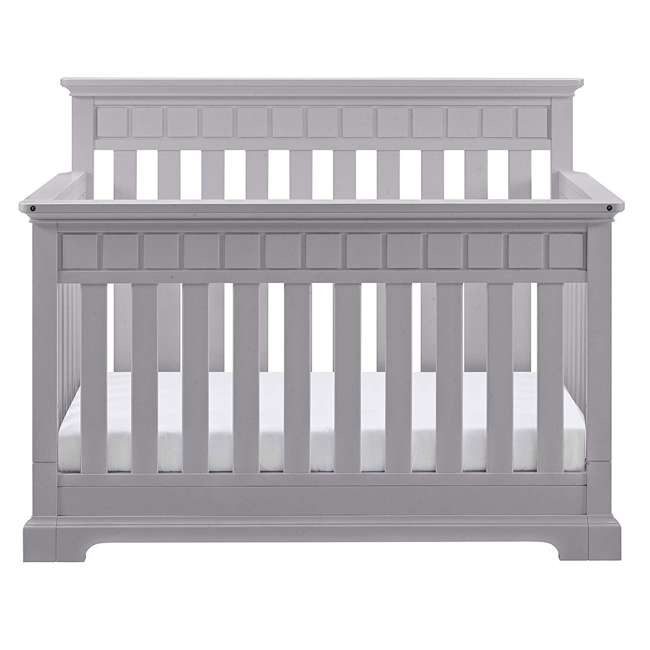 04565-50F + EM642-PHN1 Thomasville Kids Willow Crib, Pebble Gray & Sealy Posturepedic Mattress  3