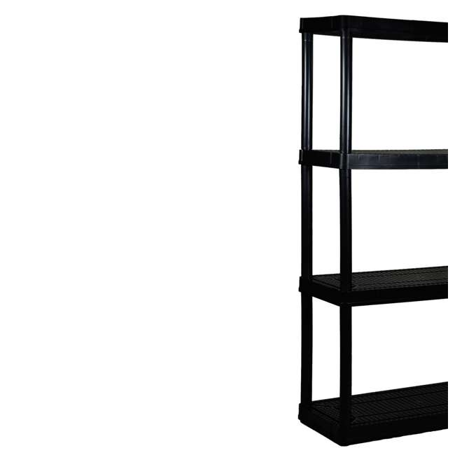 6 x GL91021MAXIT-1C-36 Gracious Living 4-Tier Resin Garage Storage Shelf, Black (6 Pack) 3