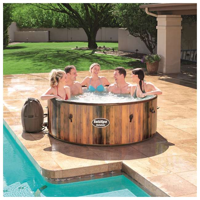 54190E-BW Bestway SaluSpa Helsinki AirJet 7 Person Inflatable Spa Hot Tub w/ Pump (2 Pack) 4
