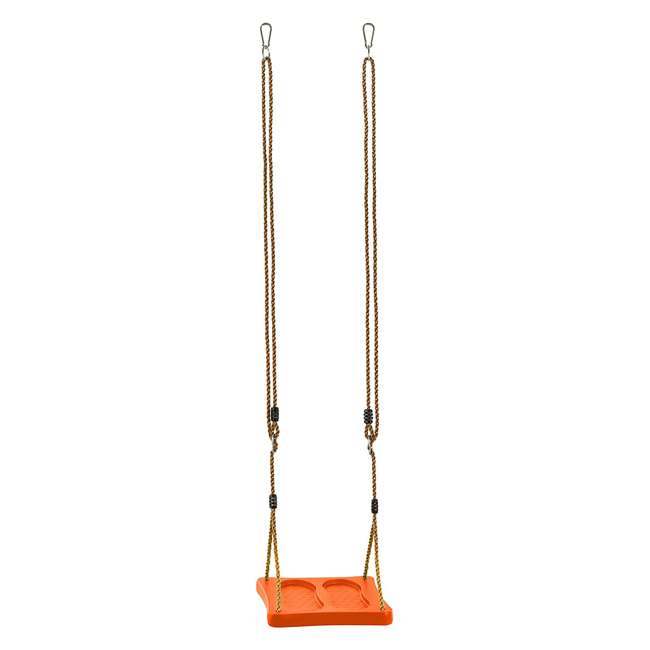 SWSSR-OR Swingan One of a Kind Pre-Assembled Standing Swing With Adjustable Ropes, Orange 2