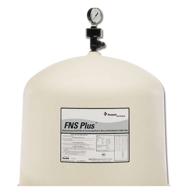 180008 + CPOOL6VFP132GMAGBX Pentair FNS Plus In-Ground Swimming Pool Filter w/ CelaPool DE Filter Powder 2