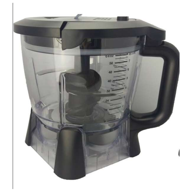 1000202585K-64oz-Bowl Ninja 64 oz Blender Food Processor Bowl and Lid (New Without Box)