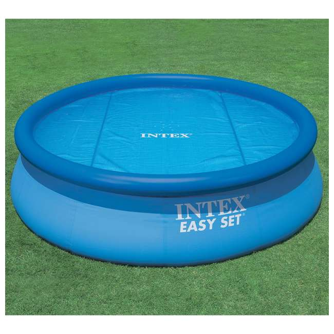 Intex 18 foot round swimming pool solar cover 29025e for A swimming pool is circular with a 40 ft diameter