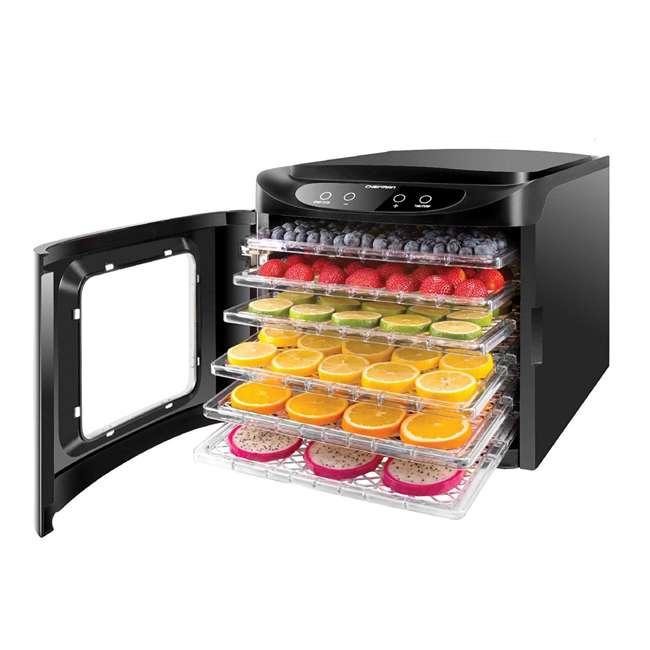 RJ43-SQ-6T Chefman RJ43-SQ-6T 6 Tray Digital Touch Display BPA Free Food Dehydrator, Black 1