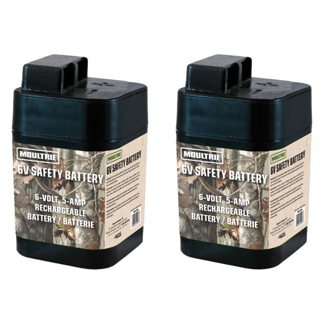 MFHP12406 Moultrie 6 Volt Rechargeable Safety Feeder Batteries (Pair)
