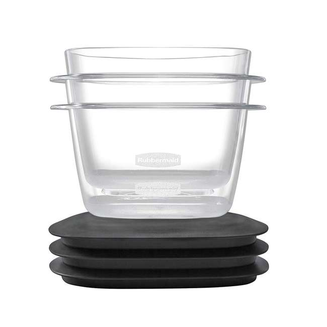 1951294 Rubbermaid Premier 28 Piece Easy Find Lids Food Storage Container Set, Gray 3