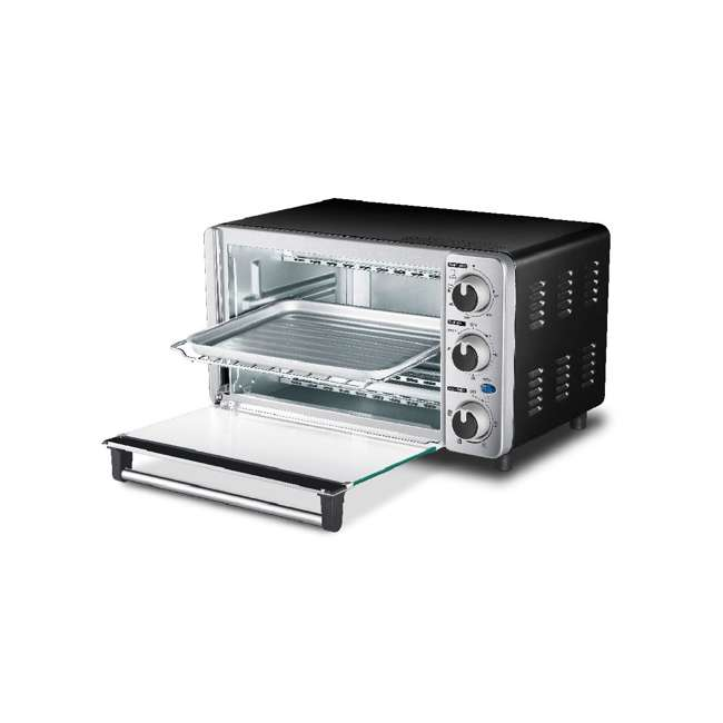 MC25CEY-SS Toshiba MC25CEY-SS 6 Slice Small Convection Pizza Toaster Oven, Stainless Steel 2