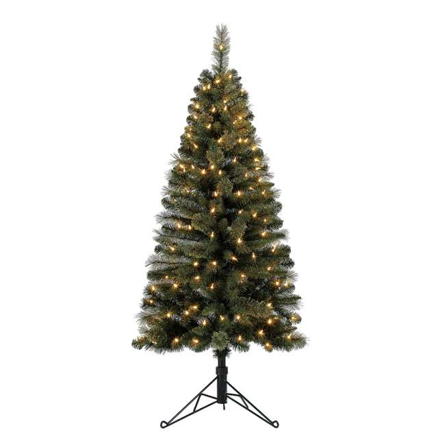 TV50M3AVBL00 Home Heritage Cashmere 5 Foot Artificial Corner Christmas Tree with LED Lights