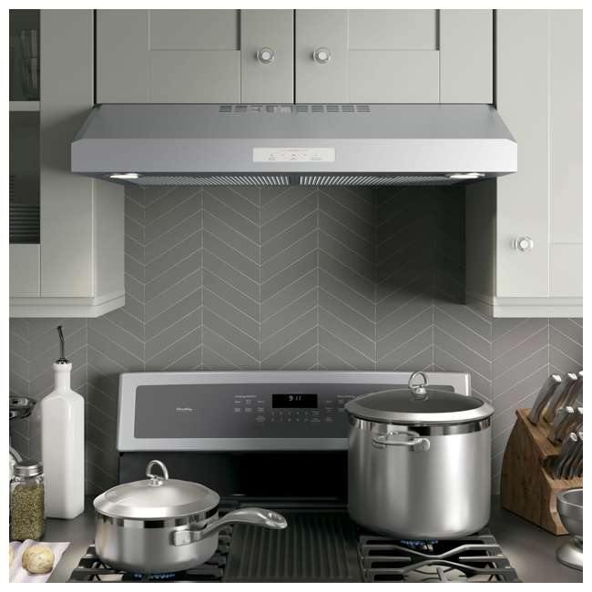 PVX7300SJSS-U-C GE Profile 30 Inch Under the Cabinet Hood Stainless Steel Range Vent (For Parts) 4
