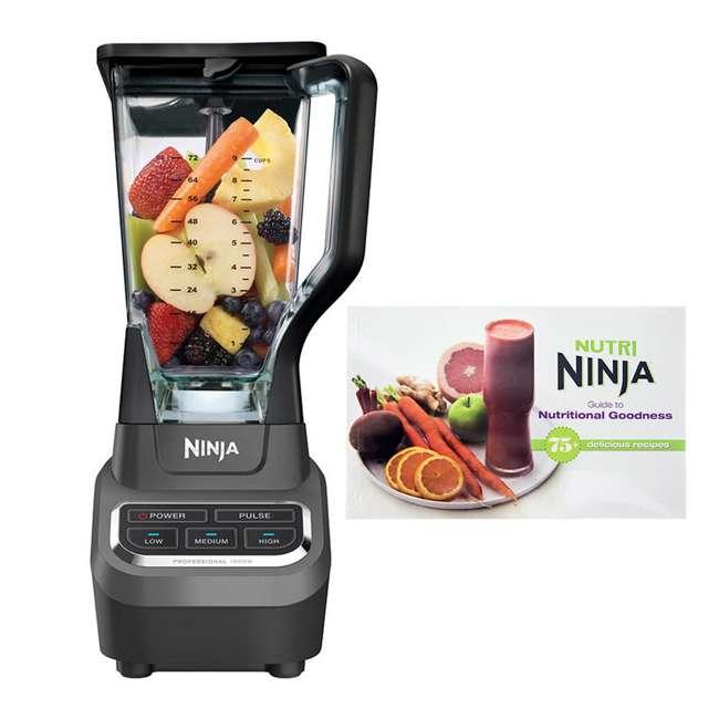 BL610_EGB-RB + CB450 Ninja Professional Blender (Certified Refurbished) & Recipe Book