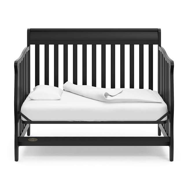 04530-66B + 06711-300 Graco Stanton 4-in-1 Convertible Crib in Black w/ Foam Mattress 6