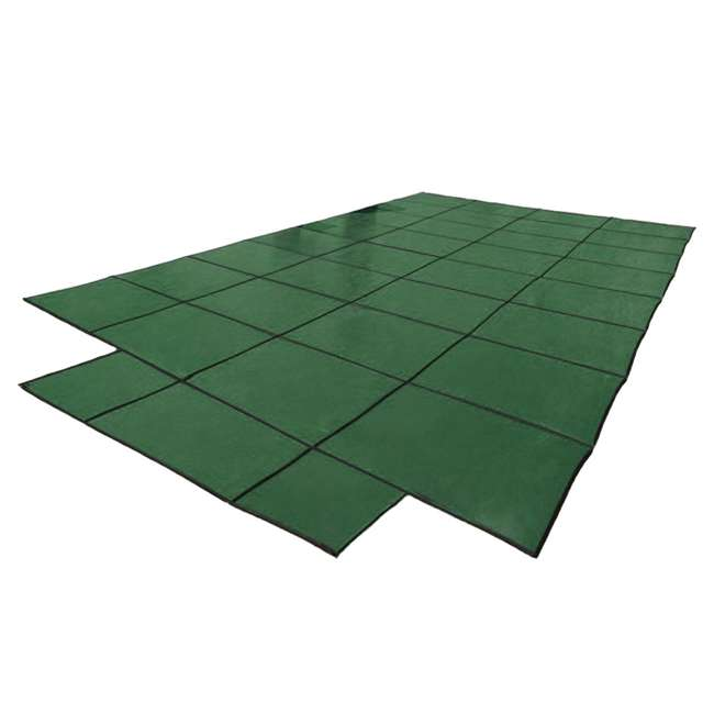 DG204058S Yard Guard 20 x 40 Feet With 8 Feet Center End Steps Pool Cover, Green