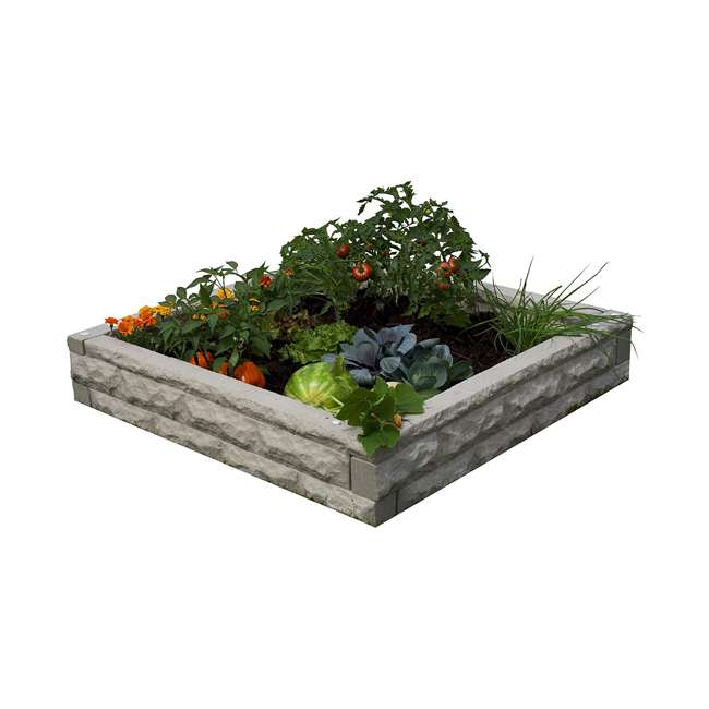 GW-RBG-SAN Good Ideas Garden Wizard Outdoor Self Watering Raised Garden Bed, Sandstone