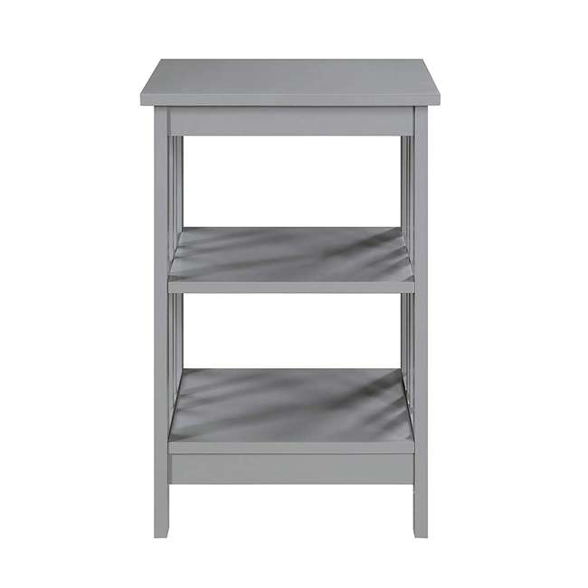 S20-250 OMA - Convenience Concepts 203385GY End Table, Gray 2