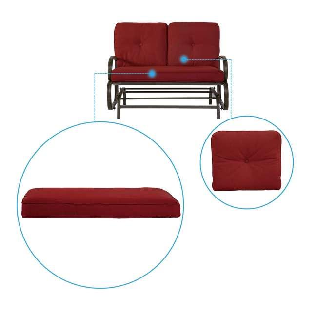 CM0002-U-B Cloud Mountain Furniture Porch Patio Loveseat Glider Sofa Couch Swing (Used) 2