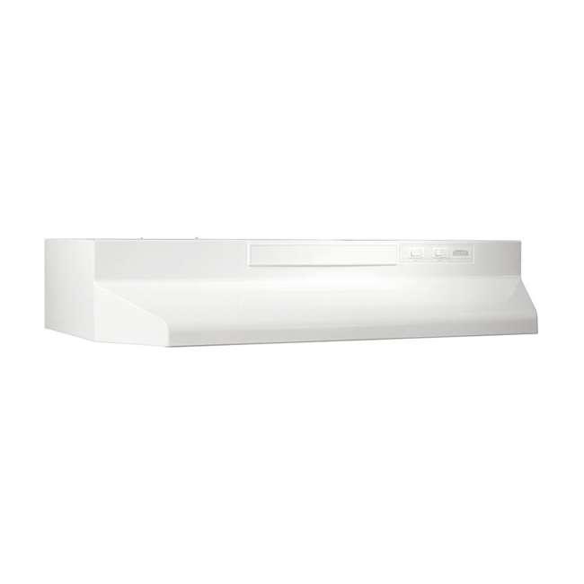 BR-F403011 Broan-NuTone F403011 30 Inch 4 Way Convertible Under Cabinet Range Hood, White