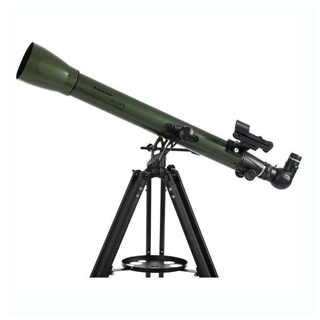 22105 Celestron ExploraScope 60AZ 60x 700mm Telescope, Green (Open Box) 3