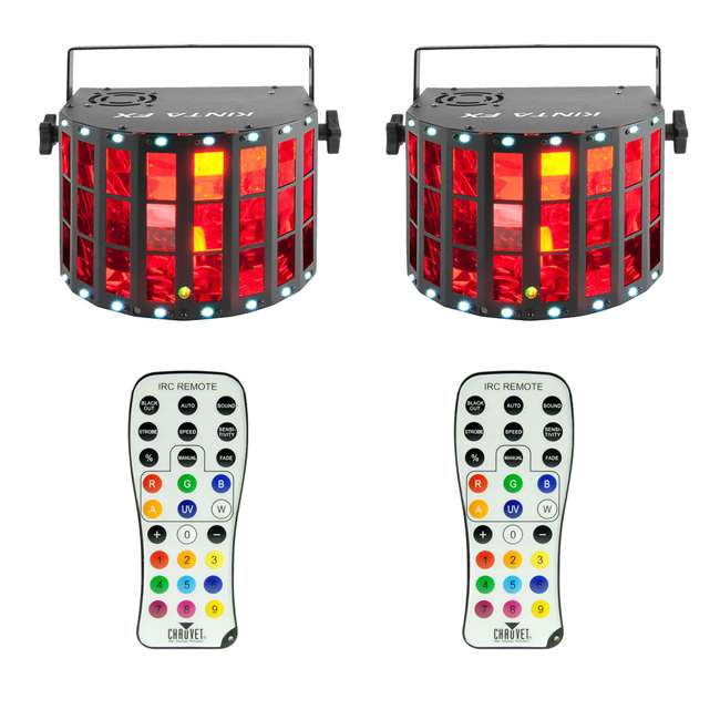 KINTA-FX + 2 x IRC-6 Chauvet DJ Kinta FX Multi-Effect Light (2 Pack) & Remote Control (2 Pack)
