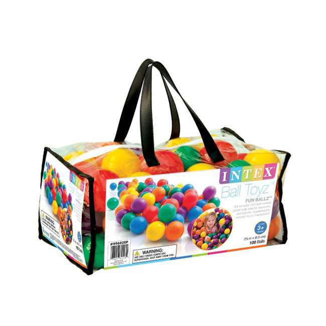 49602EP 100-Pack Intex Small Plastic Multi-Colored Fun Ballz 3