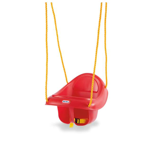 637247C Little Tikes 637247 Highback Plastic Toddler Playset Swing with Seat Belt, Red