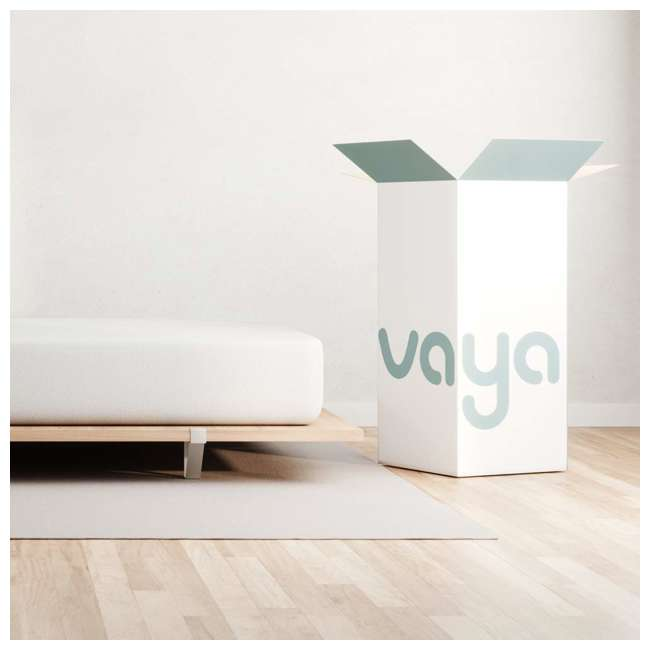 VY-TXL Vaya Sleep Soft Cool Sleep CertiPUR Twin XL Size Premium Mattress & Cover, White 2