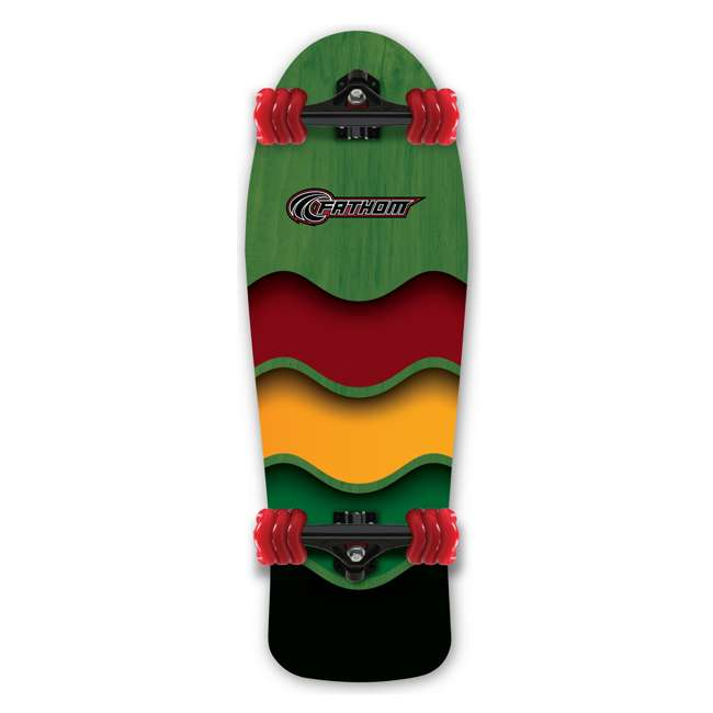 T8-3307 + 08286-SHARK Triple 8 Gotham Bike & Skate Helmet + Fathom Shark Wheel Rasta Cruiser Longboard 10