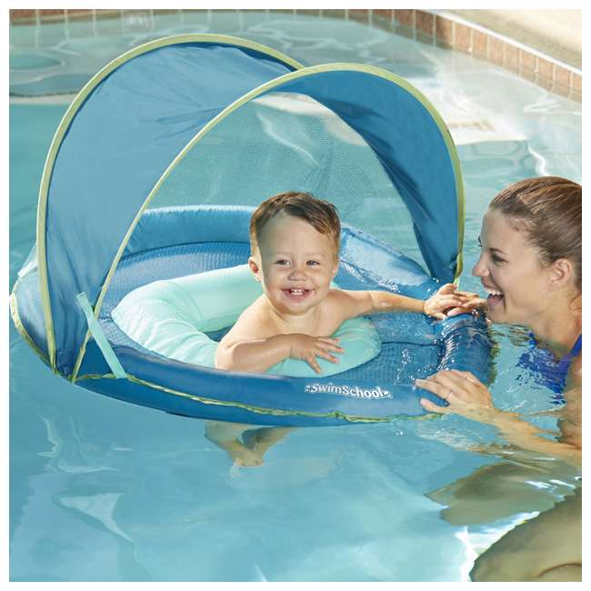 SSP10152 Aqua Leisure SwimSchool 6 to 24 Months BabyBoat, Aqua 2
