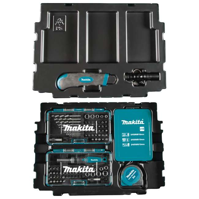 B-49884-U-A Makita 116 Piece Drilling Fastening Metric Bit Hand Tool Set (Open Box)