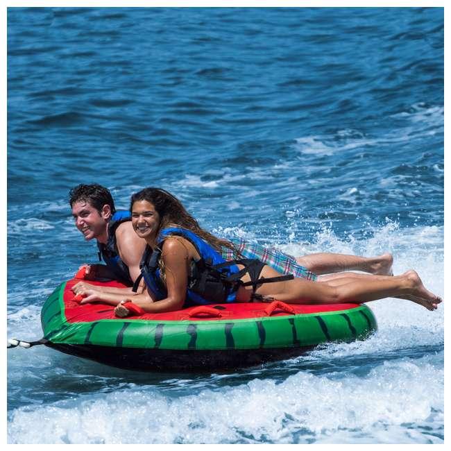SL-22202 Swimline Solstice 2-Rider Watermelon Island Towable Tube (2 Pack) 2